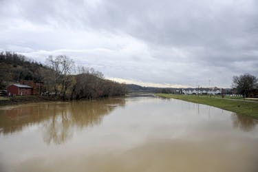 The rapid rise of the Hocking River due to heavy rainfall in the area has caused Ohio University to cancel classes for Monday, Feb. 26.