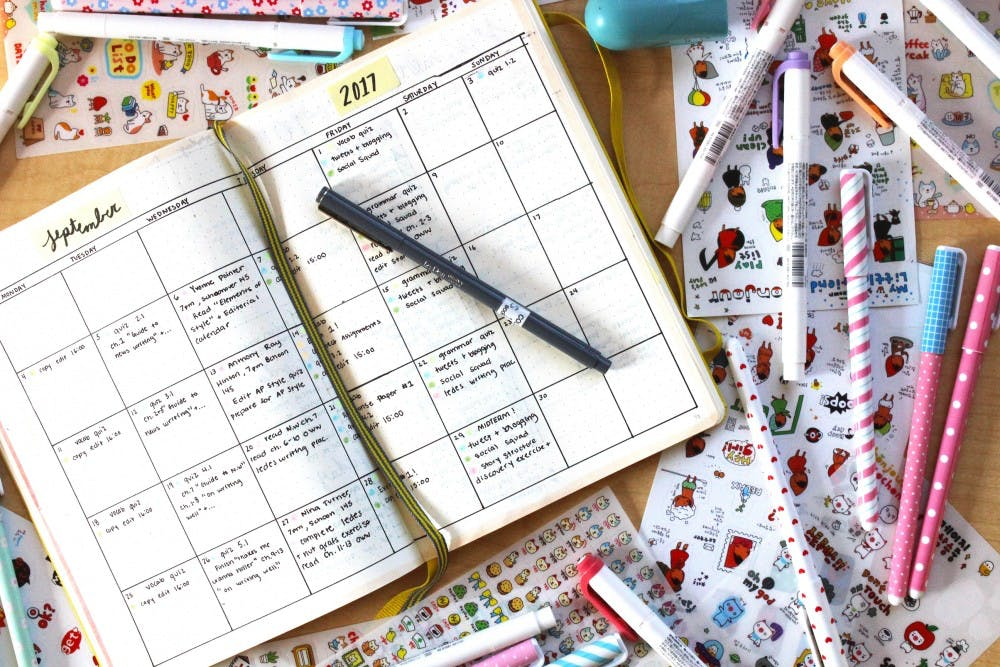 Organizational methods can help students keep track of their lives