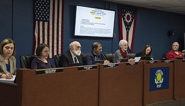 Members of Athens City Council during council's meeting on Jan. 16. (FILE)