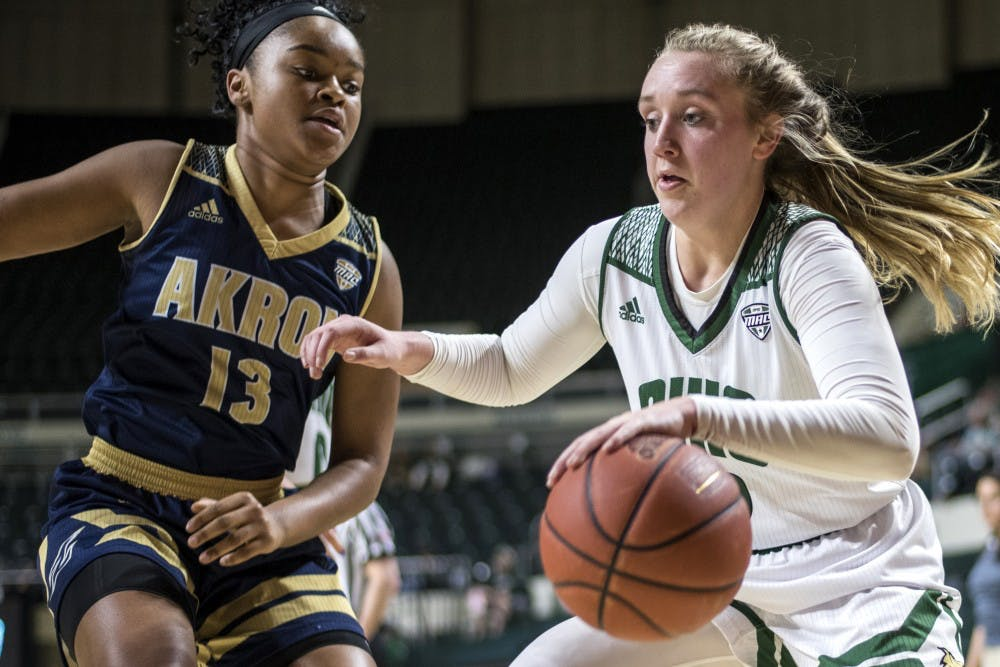 Women's Basketball: Ohio holds off Akron and moves on to MAC quarterfinals