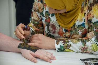 MSA Night offered attendees a look at various culture traditions, such as henna tattoos. (Provided via Neketa Forde)