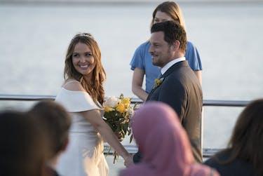 Alex Karev and Jo Wilson finally got married in the season finale of 'Grey's Anatomy.' (via @JChambersOnline on Twitter)