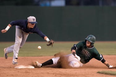 Ohio's Ty Black slides into second base during the Bobcats' game against Butler on March 24. (FILE)