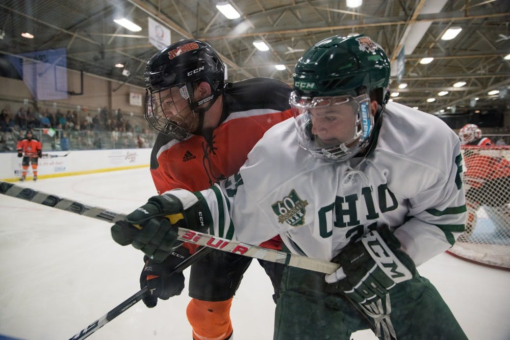 Hockey: Ohio unconcerned with, but aware of gravity of series against Robert Morris-Illinois
