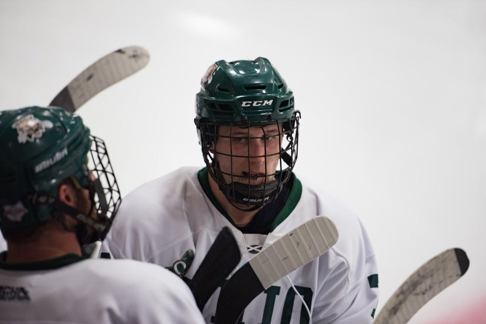Hockey: Evangelisti grinds through injury, scores three points in Ohio's 9-1 win over Pitt