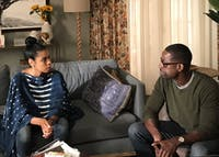Beth and Randall got their first foster child in Tuesday's episode of This Is Us. (PROVIDED via @skelechiwatson on Twitter)