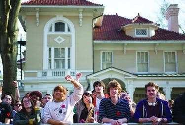 The bat rally was one of the events that 'Post' graduating seniors remember from their freshman year. (FILE)