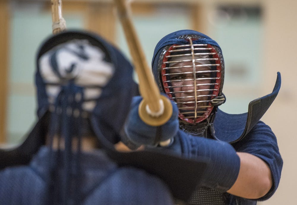 Kendo practice improves mental strength as well as physical