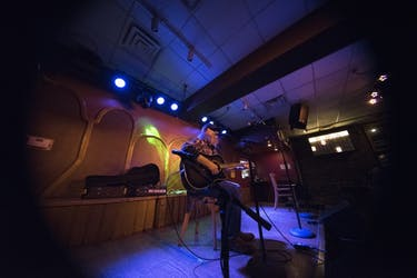 Chris Biester performs at Casa Nueva for Open Mic Night on Wednesday, April 25.