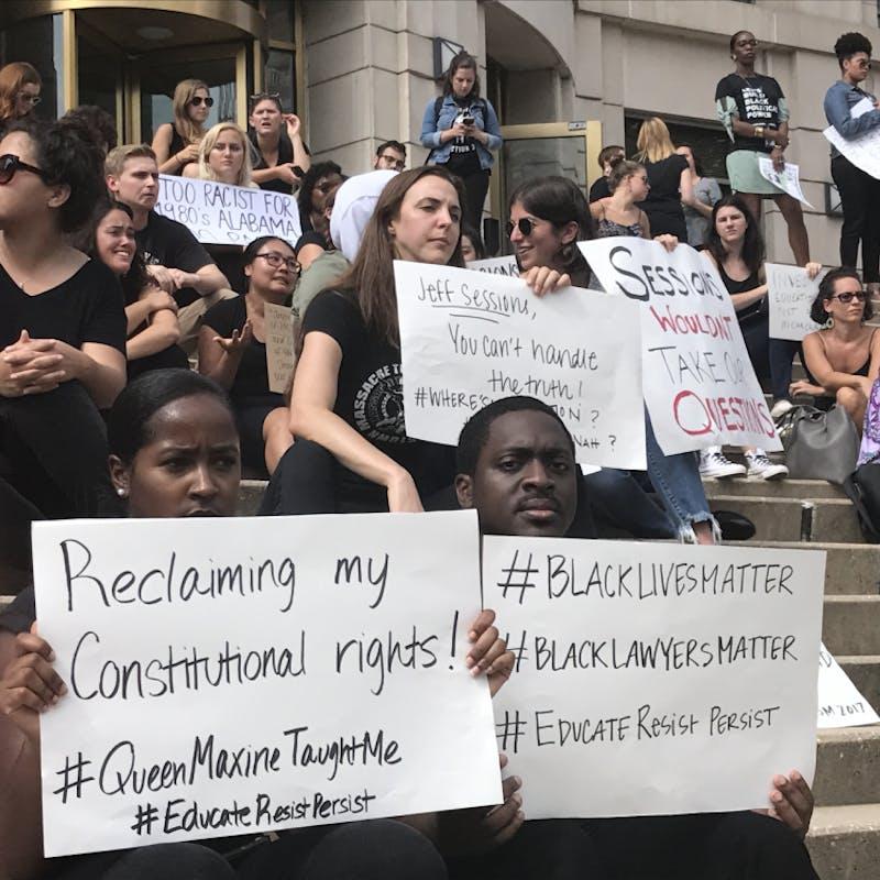 Georgetown free speech protest