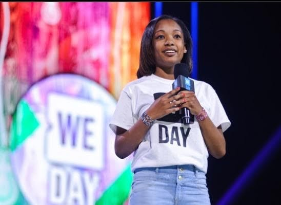 JADE GREEAR Speaking at We Day as the first youth co-chair in 2016