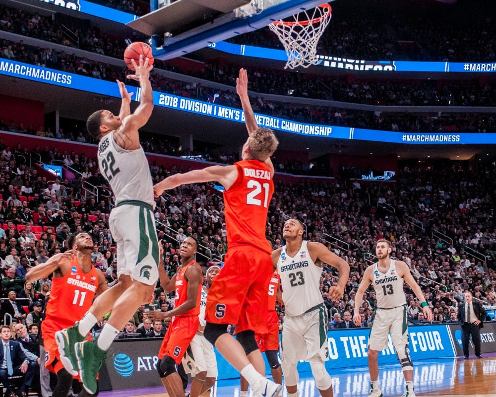 No. 3 Seed Michigan State Faces No. 11 Seed Syracuse on Sunday