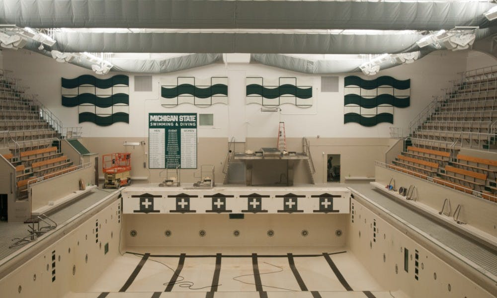 Im facilities committee plans to bring renovation suggestions to new noise reduction foam that was added to the pool is pictured on aug 30 2017 at im sports west the new foam is part of a minor facility wide update sciox Choice Image