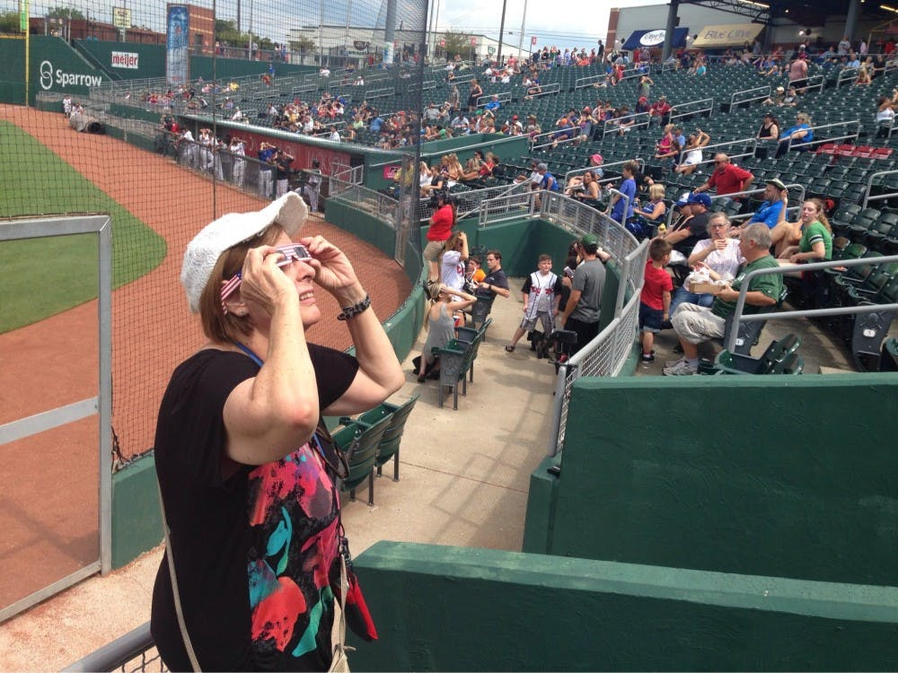 VIDEO: Lansing Lugnuts on eclipse day