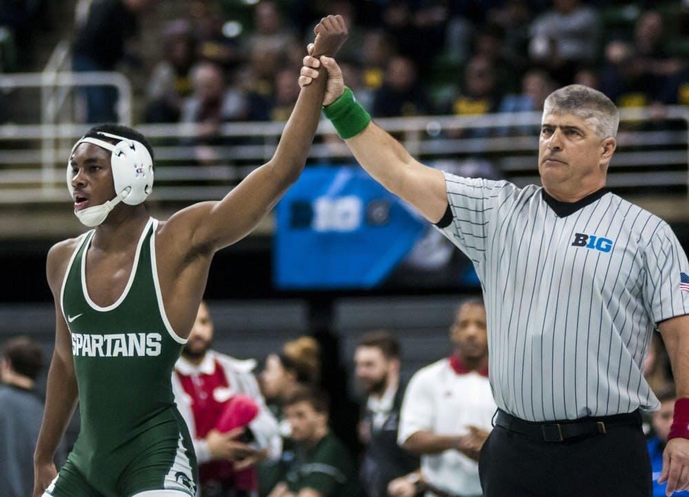 MSU wrestler uses bond with high school coach to improve, inspire