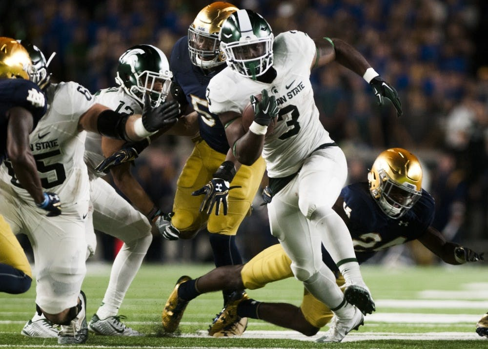 See photos from Michigan State's 38-18 loss to Notre Dame
