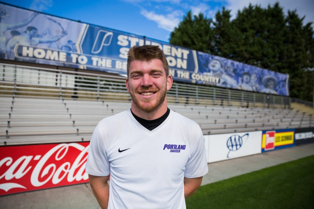 Senior Kienan Weekes will complete a fifth year at University of Portland and hopes to move up as first string goalkeeper for the Pilots.