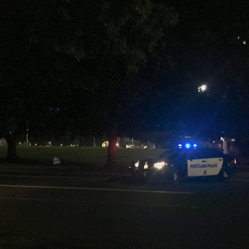 Portland Police responded to the scene around 8:20 p.m. and blocked off a section of Willamette Boulevard until after 9:30 p.m.