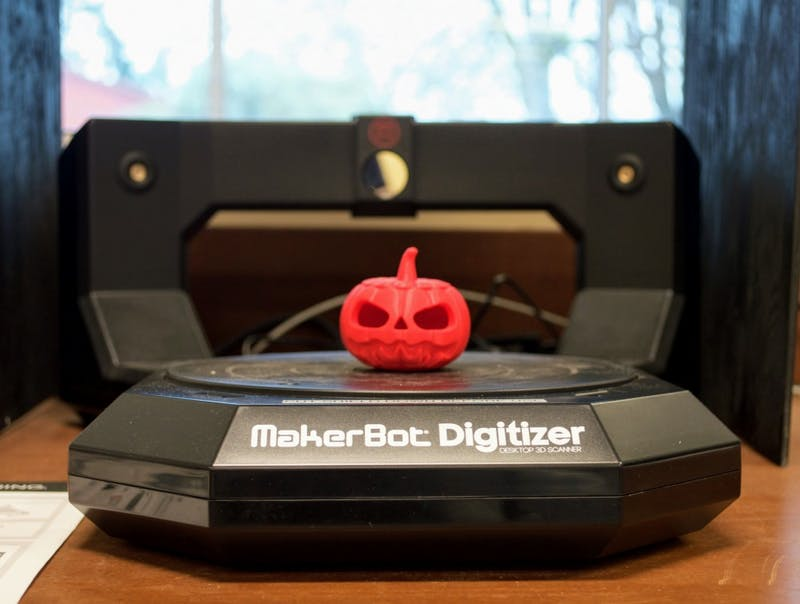 This 3-D printer is one example of several machines that can be found and used in the Pilot Space.
