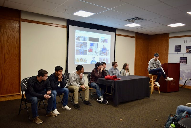 Student panelists listen to the advice of CEO and founder of Portland Gear.