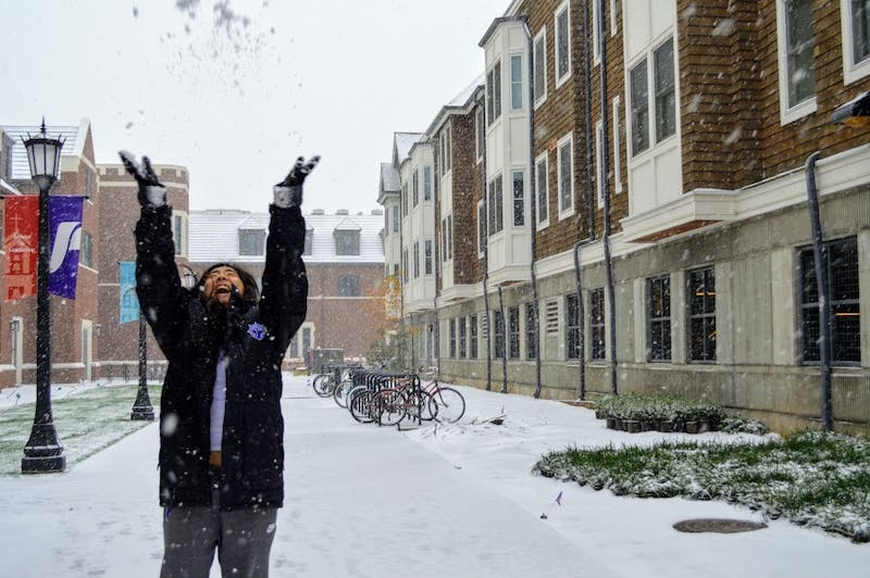 Portland saw a lot of snow last winter that surprised many students.