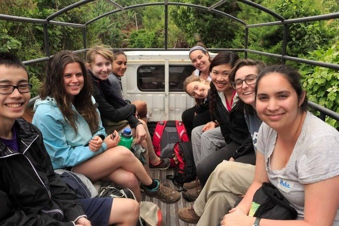 University of Portland students traveling during a previous Nicaragua immersion. Photo taken from Nicaragua Immersion blog.