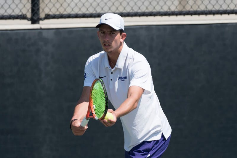 University of Portland men's tennis player Michail Pervolarakis won WCC Player of the year for the second year in a row.