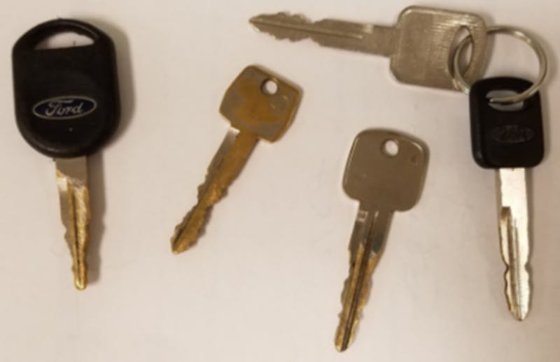 PSAFE Officer Charlie Brown says that filed down keys are often used in the theft of older cars.