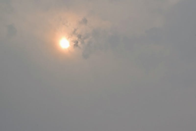 When fires blazed throughout the Columbia Gorge last week, the sun was orange and the sky was covered with smoke.