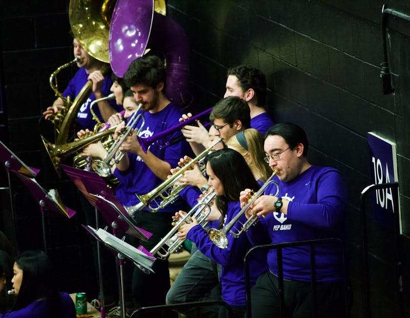 The UP Pep Band plays enthusiastically at basketball games, keeping up the energy of the crowd as they cheer on the Pilots. Pep band members also travel each year to the WCC tournament in Las Vegas.