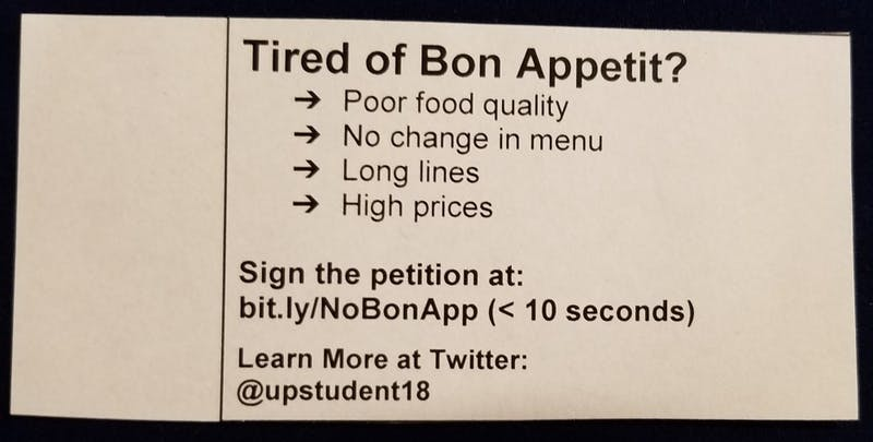 Some University of Portland students have started a petition to remove Bon Appetit as the sole food provider on campus.
