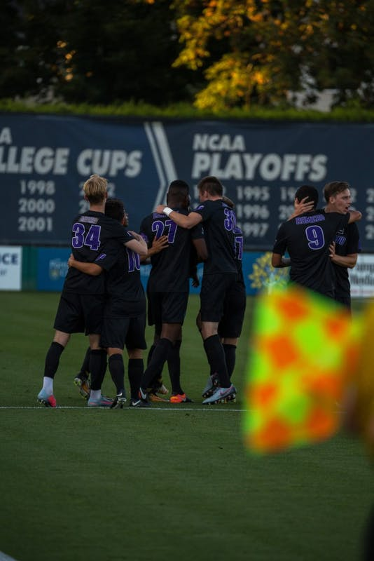 Pilots after the first score of their game against UNLV in September.