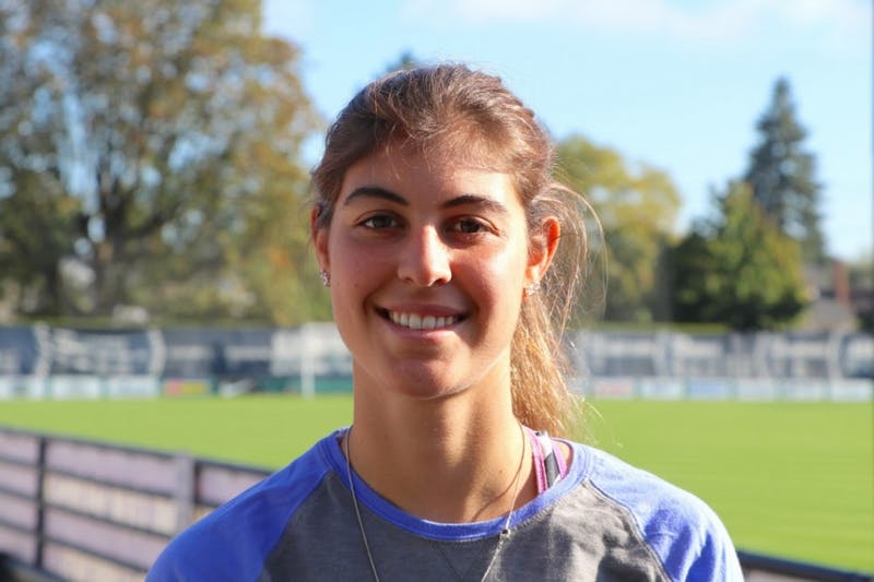 Kaycie Young is a senior midfielder for University of Portland's women's soccer team.
