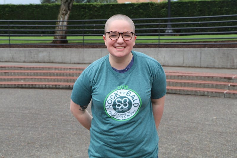 Ruthie Olson after shaving her head.