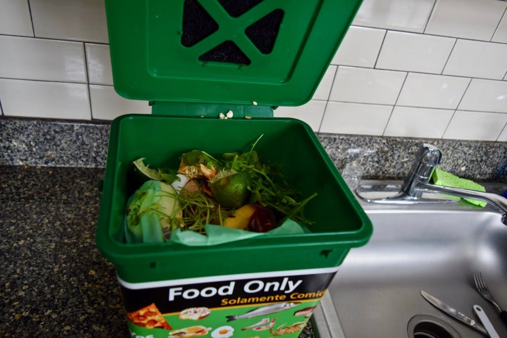 Residence halls (with the exception of Hag/Ty) on the University of Portland campus has a compost bin for their students to use. Students called Compost Runners come and take the compost to the composting bin behind the commons.
