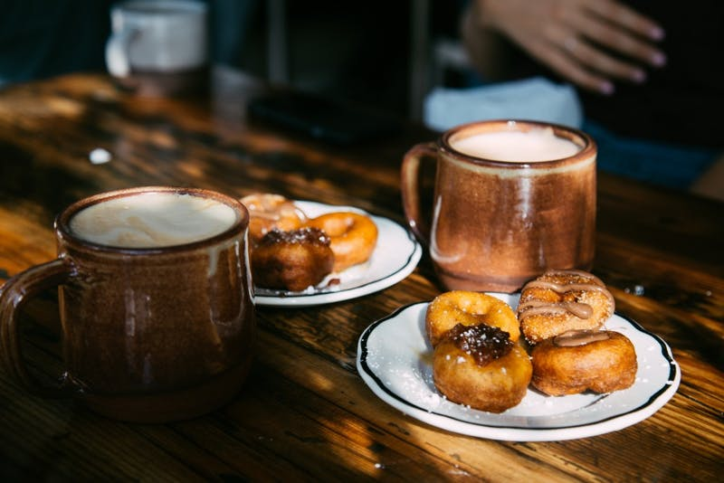 Where should you take your parents during Junior Parents Weekend? Start by taking them to a classic Portland coffee and doughnut shop, like Pips Origional Doughnuts.