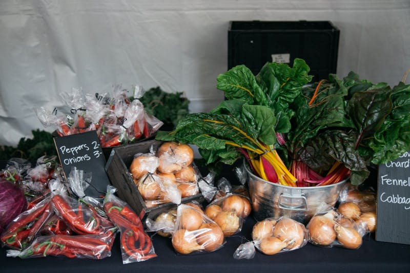 Bon Appetit hosted a farmer's market outside of The Pilot House last year. Soon, Mack's Market will also be selling local produce.