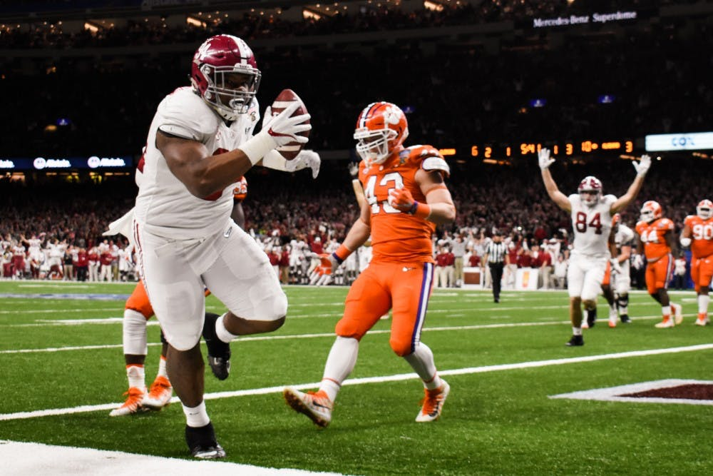 Goal line touchdown on trick play rewards physical Alabama offense in win over Clemson