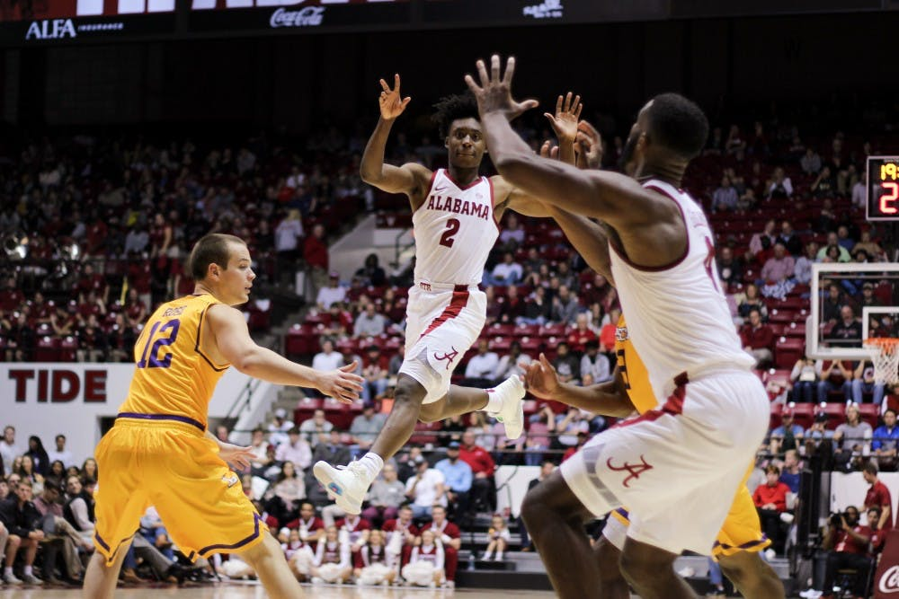 Alabama wins home opener behind solid debut from Collin Sexton