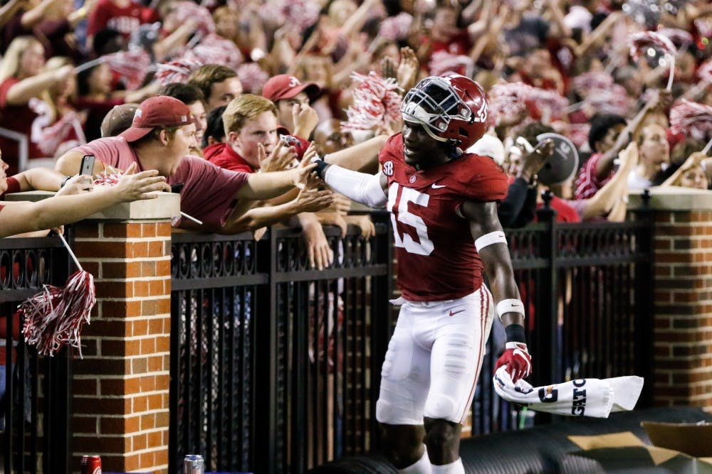 Ronnie Harrison named SEC Co-Defensive Player of the Week