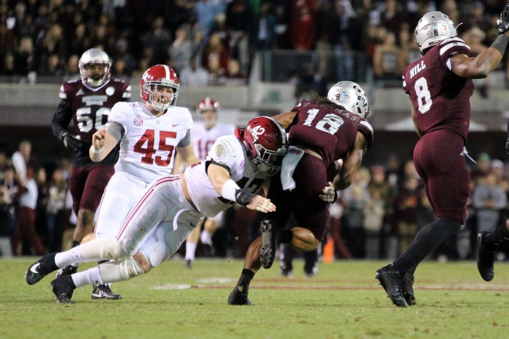 Keith Holcombe fills in at linebacker