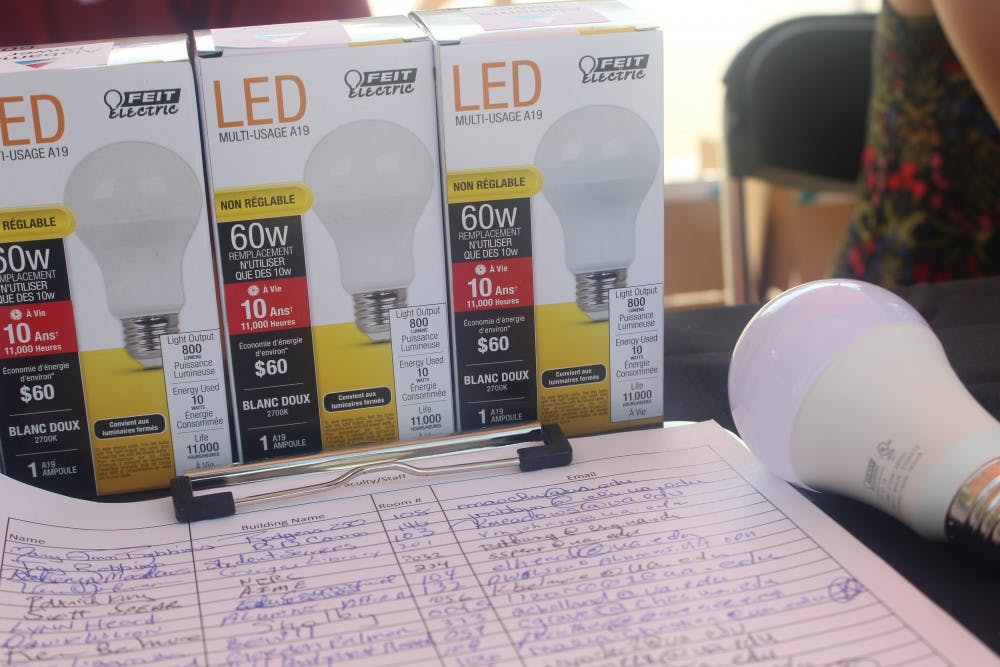 Students take opportunity to receive energy efficient light bulbs