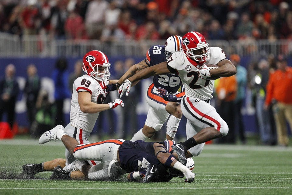 Alabama looks to slow down Georgia's SEC leading rushing attack