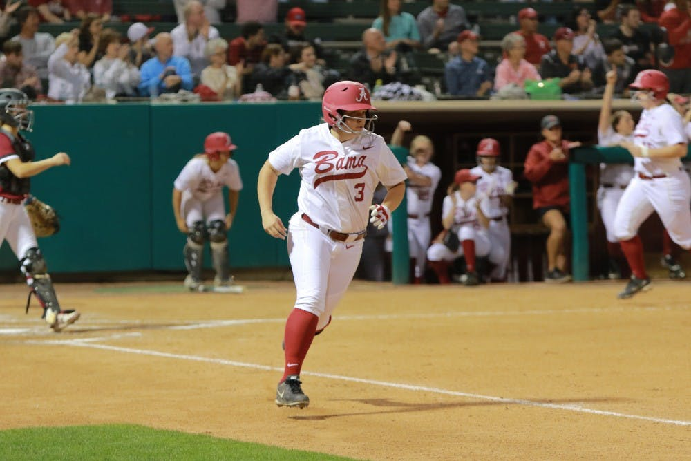 Alabama softball outscores opponents 23-0 in Friday doubleheader