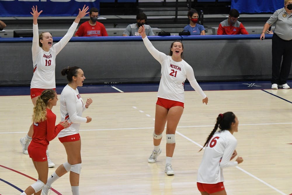 Eagles look dominant in volleyball's return to Bender Arena