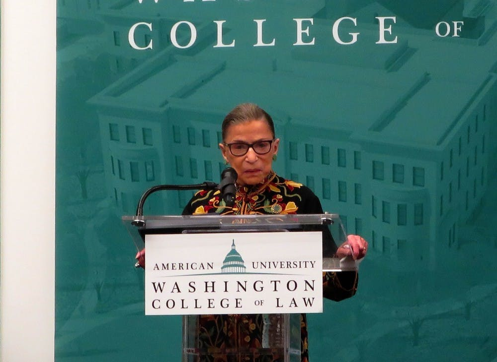 Ruth Bader Ginsburg delivers keynote at unveiling of new Washington College of Law