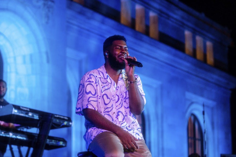 Khalid wraps up Apple's Up Next concert series on the steps of Carnegie Library