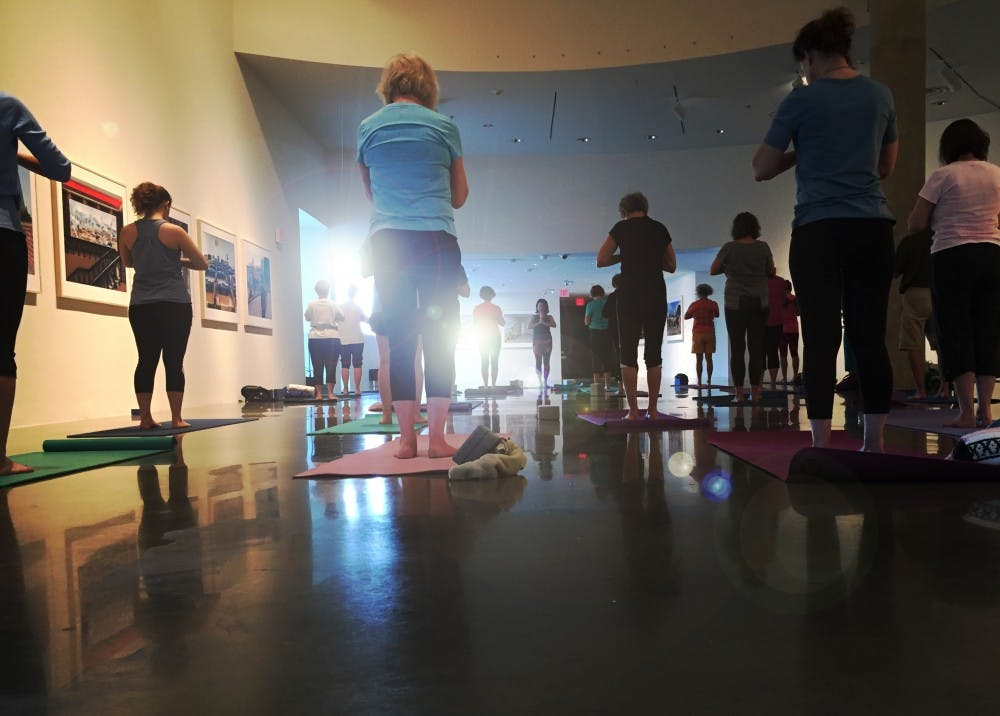 Rise and shine with yoga in the galleries