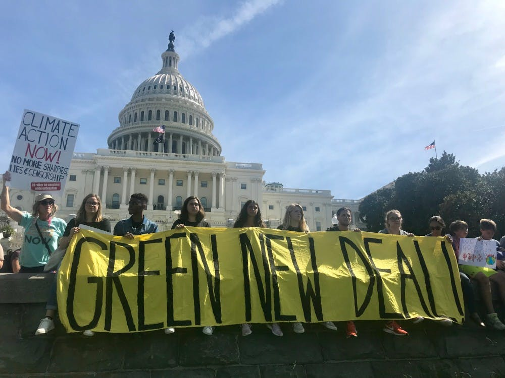 AU Sunrise hub marches at D.C. Climate Strike