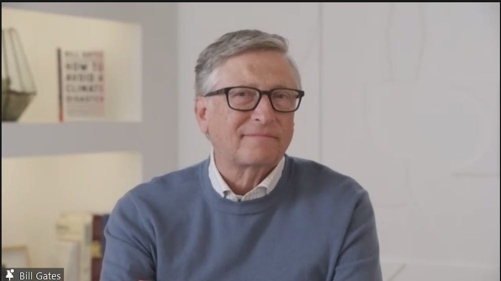 Bill Gates speaks about his book 'How to Avoid a Climate Disaster' at virtual event